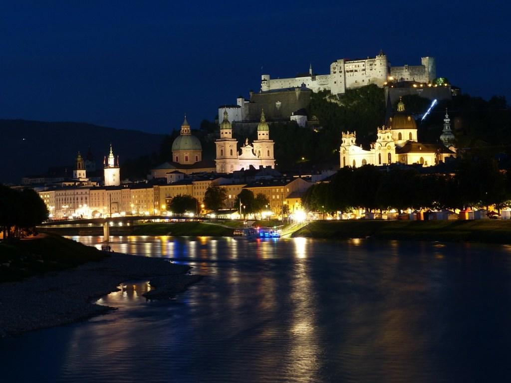 Østrig Salzburg - slot kultur by - rejser