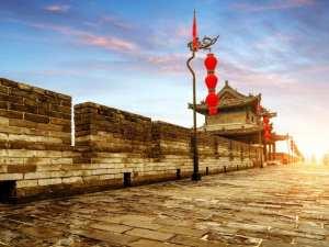 Bức tường thành phố Tây An Trung Quốc