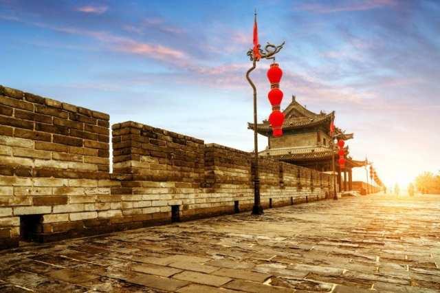 Mur de la ville de Chine Xian
