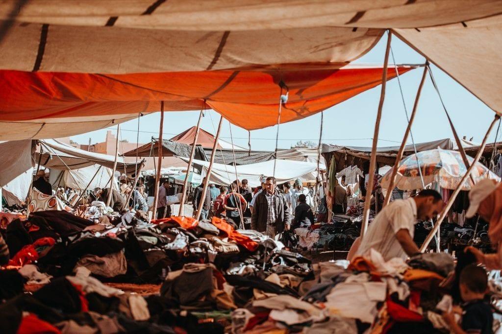Marokko - mennesker marked marrakech - rejser