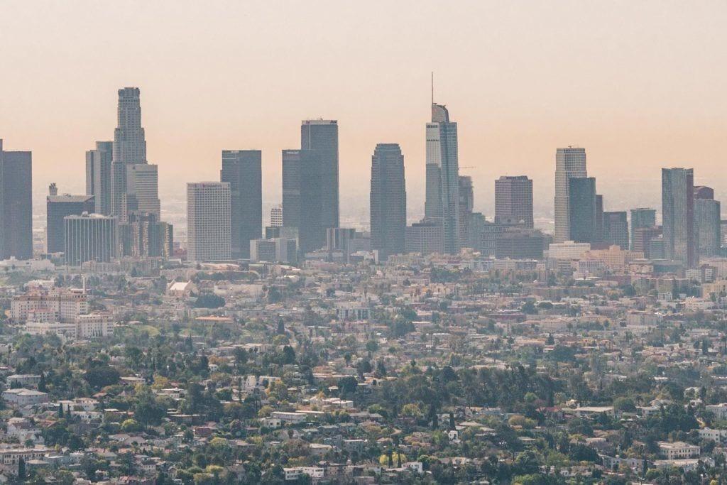 लॉस एंजिल्स, कैलिफोर्निया, दृश्य, वेधशाला, क्षितिज - यात्रा - सड़क यात्रा यूएसए