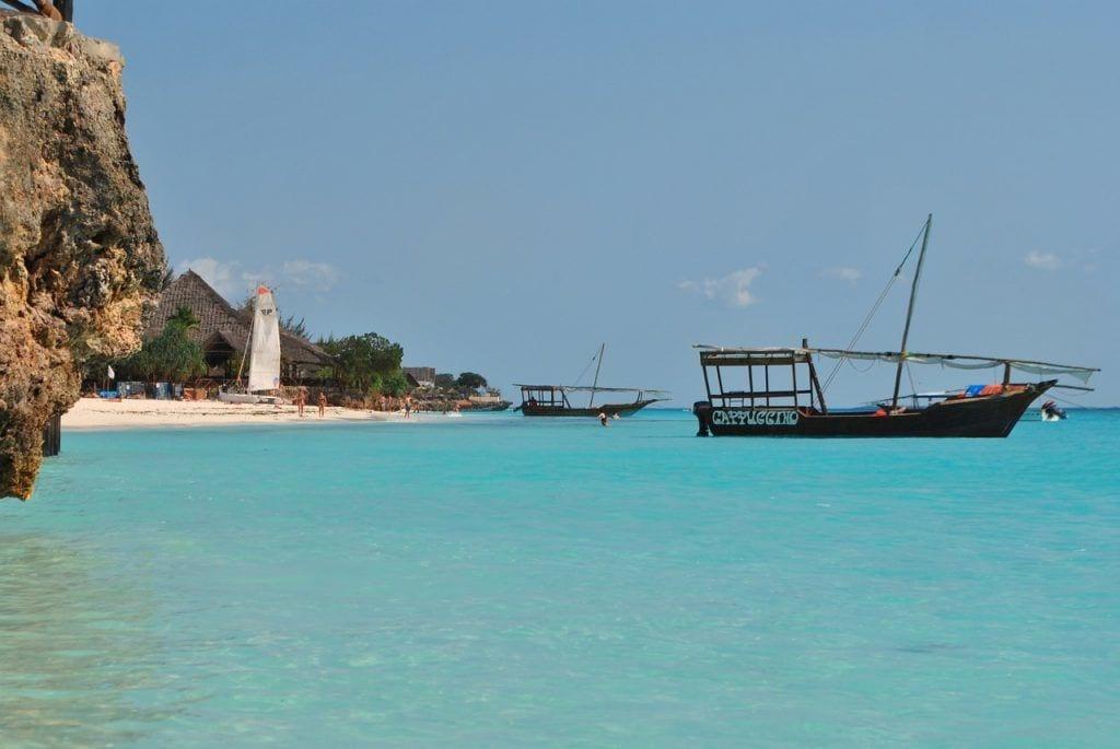 Zanzibar - båd strand Tanzania - rejser