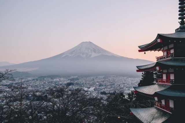 Fuji-vuori - Japani - vuori - matka