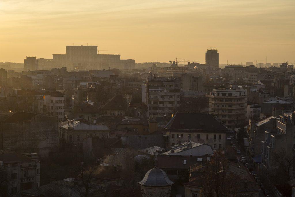 Rumænien bukarest-skyline rejser