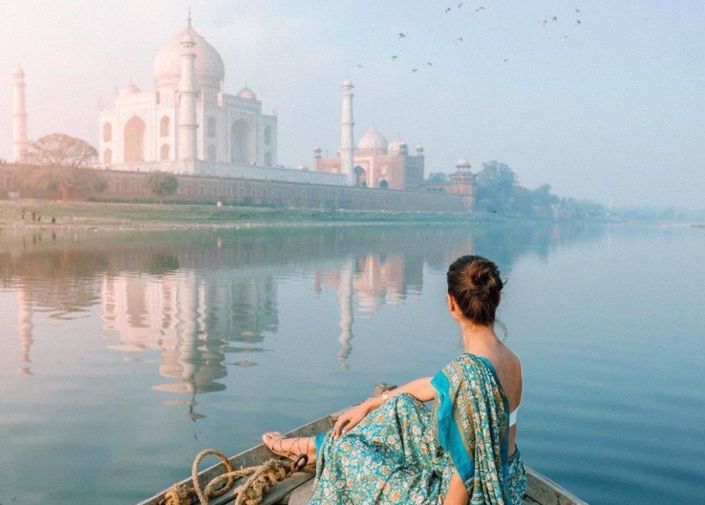 Taj Mahal-Indien Frau