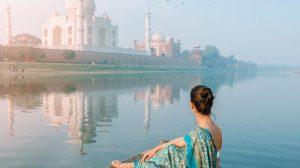 Taj Mahal-india woman