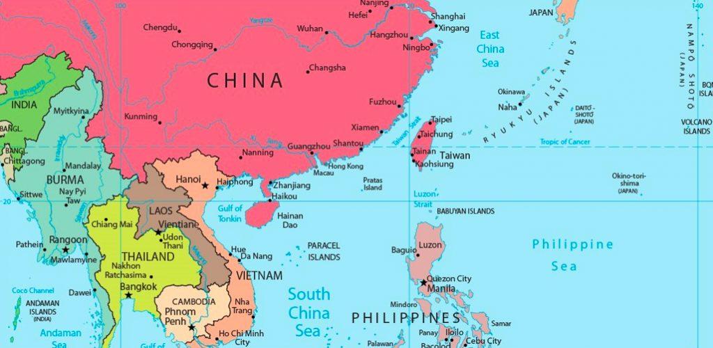 Kort - Sydøstasien - Taiwan