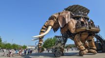 Mekanisk elefant - Nantes - Frankrig - rejser