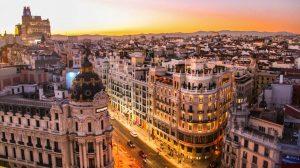 Spanien - Madrid, Häuser, Straßen - Reisen