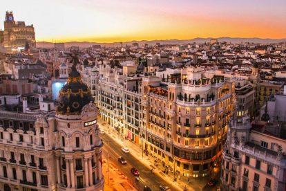 Hiszpania - Madryt, domy, ulice - podróże