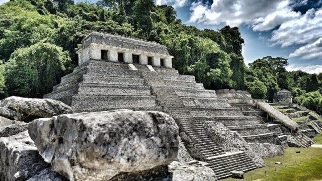 Mexico - Palenque, pyramid - travel