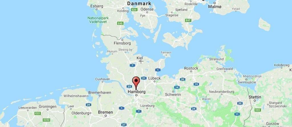 Njemačka karta Hamburg Travel, st pauli