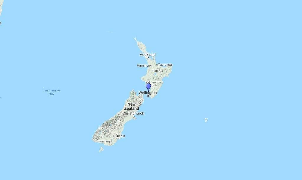 New Zealand South Island North Island Map Travel