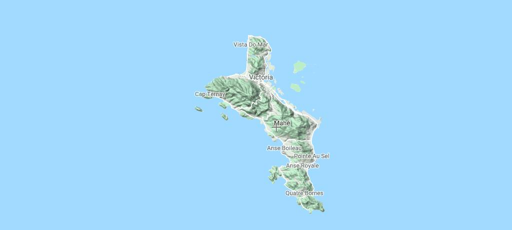 seychellerne Mahé ø kort
