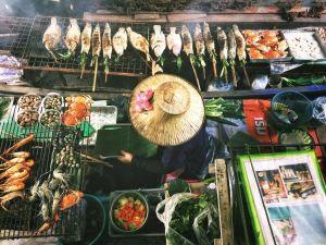 Thailand Bangkok Kvinde Båd Rejser