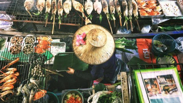 Tajland Bangkok Žena brodom