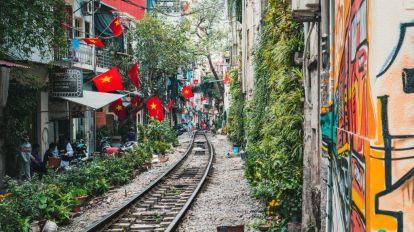 Vietnam Hanoi Togskinner Flag Rejser