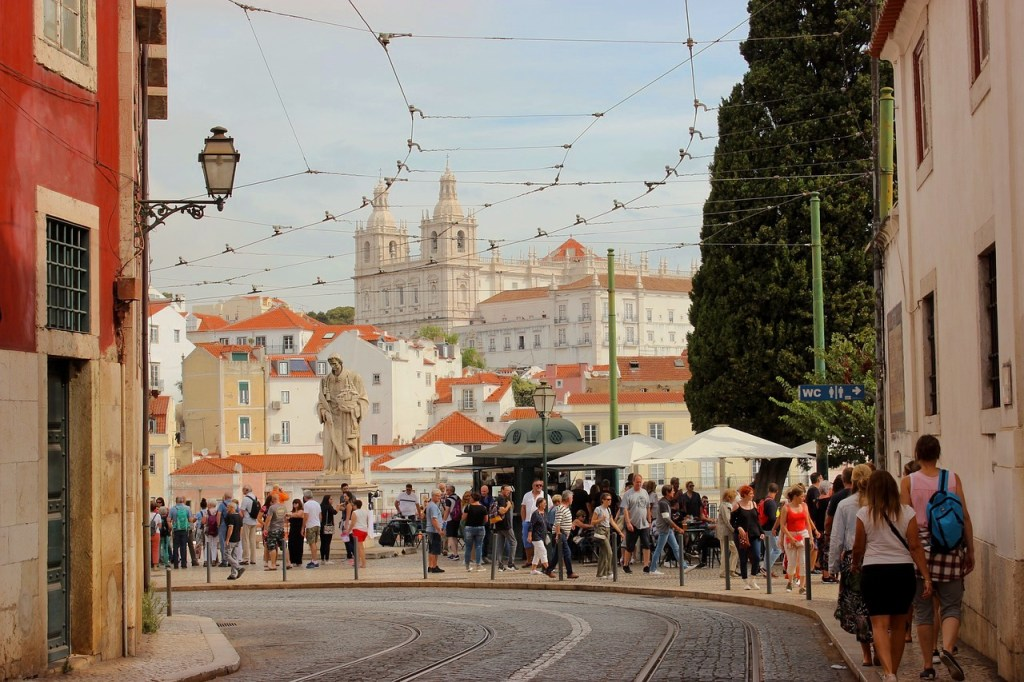Portugal Lissabon Alfama Gade Rejser