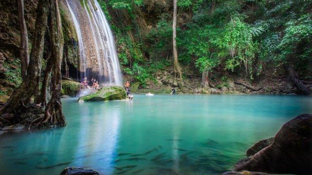 Thailand Kanchanaburi Waterfalls Travel