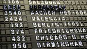 Lufthavn - tavle. fly - rejser