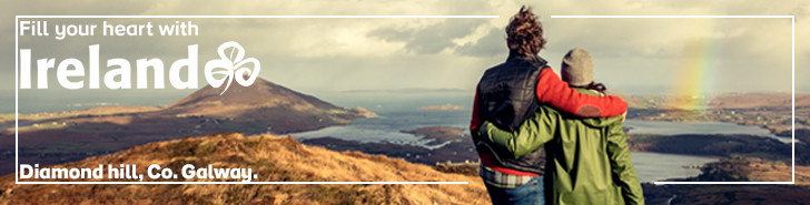 Irland - banner fra Tourism Ireland 2020