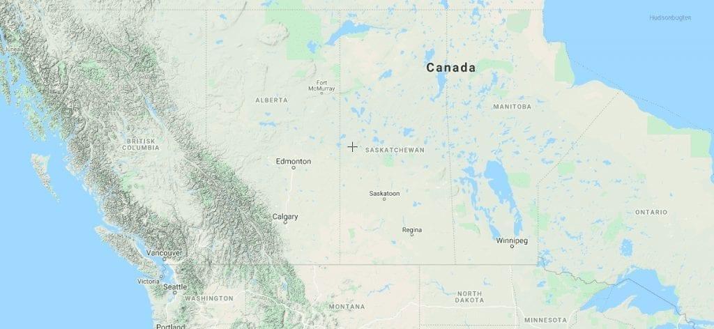 Canada - kort - rejser