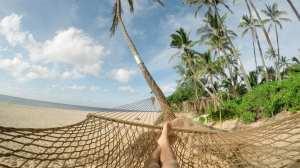 Strand, hengekøye, palmer - reise