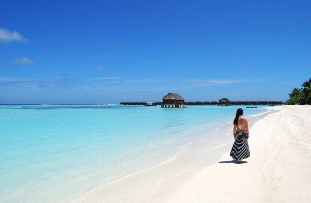 मालदीव - समुद्र तट, पानी, महिला - यात्रा