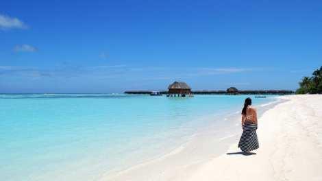 Maldiverne - stran, vand, kvinde - rejser