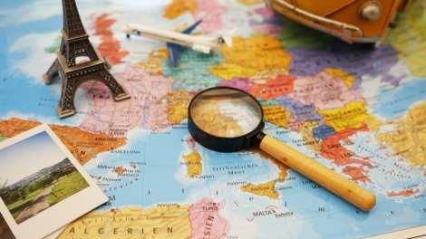 Kort Atlas planlægning rejser