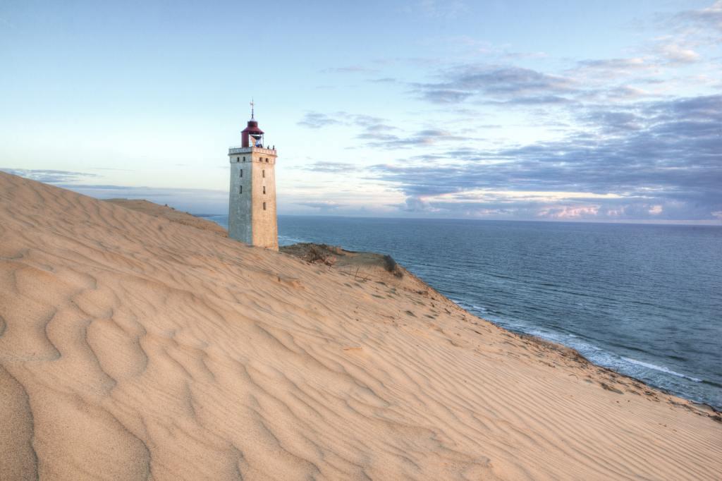 Denmark - Løkken, Rubjerg Lighthouse - paglalakbay - holiday sa tag-init sa denmark