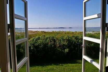 デンマーク-窓、夏-旅行