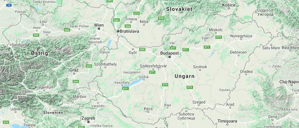 Ungarn Budapest kort rejser