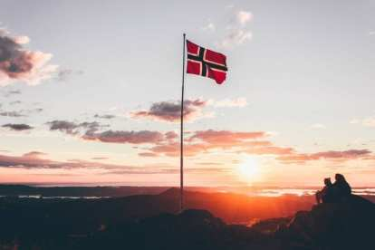 Norge Flag rejser