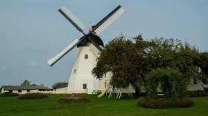 Danmörk vindmyllan frá Bornholm