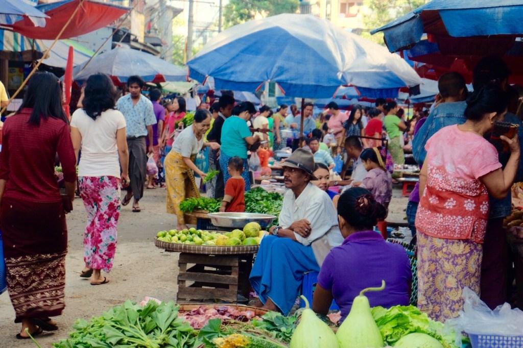 Myanmar - marked, rejse i Myanmar - rejser