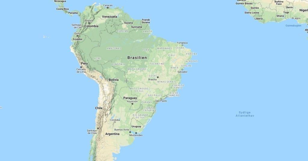 Brasilien - Sydamerika - kort - rejser
