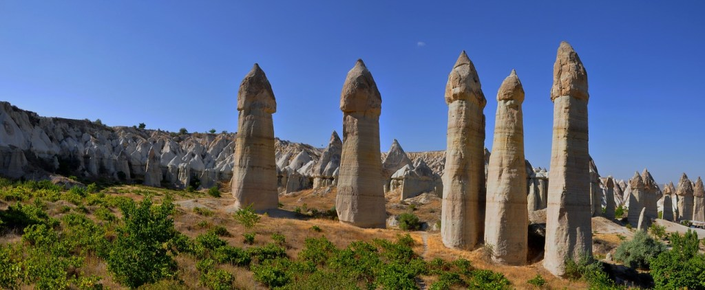 Tyrkiet - Kappadokien, fairy chimneys - rejser