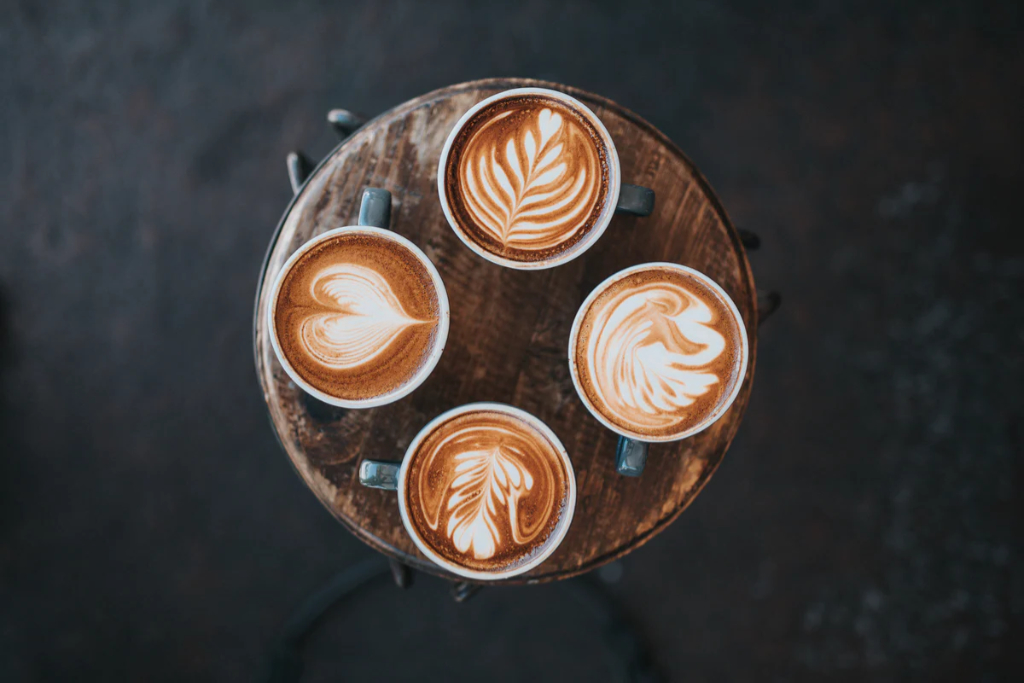 Denmark, 7 cool coffee places, coffee top view travel