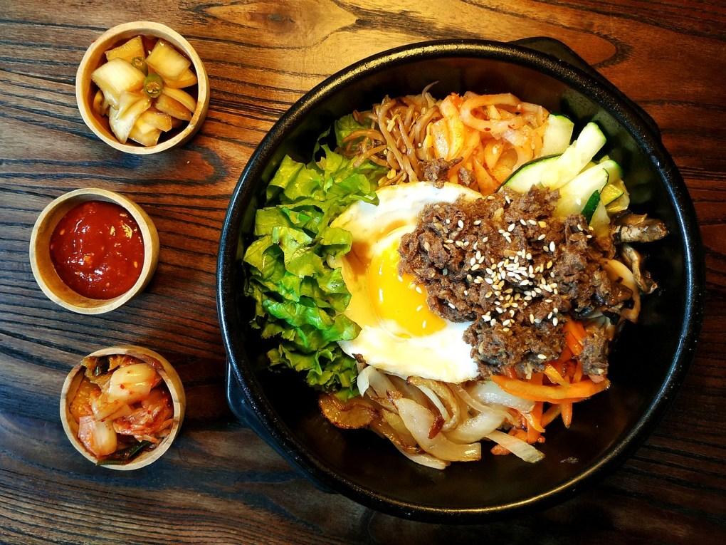 Bibimbap - koreansk mat - reise