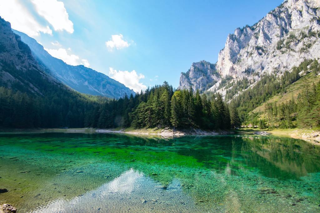 gruner see, østrig, landskab, sø, rejser