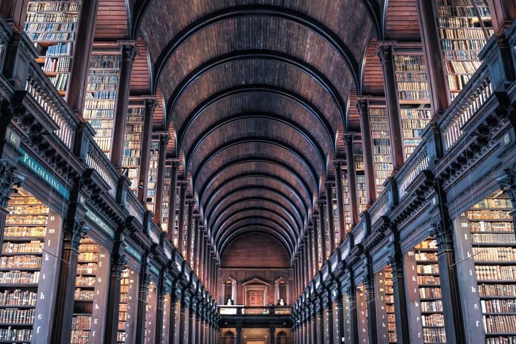 L'Irlande, Dublin, Trinity College, Long Room Library, Livre de Kells, bibliothèque, université, voyage
