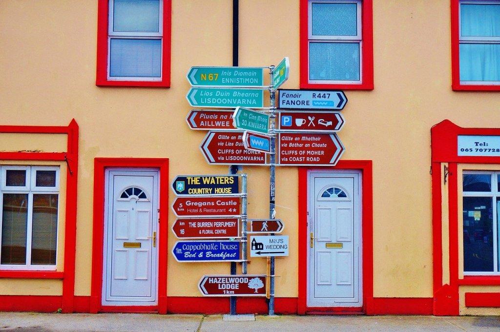 Irland - tegn - reise