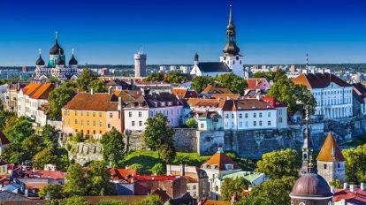 Estonija, Talin, gradski krajolik, Stjernegaard Putovanja, Putovanja