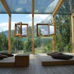 酒店,窗戶,風景-旅行