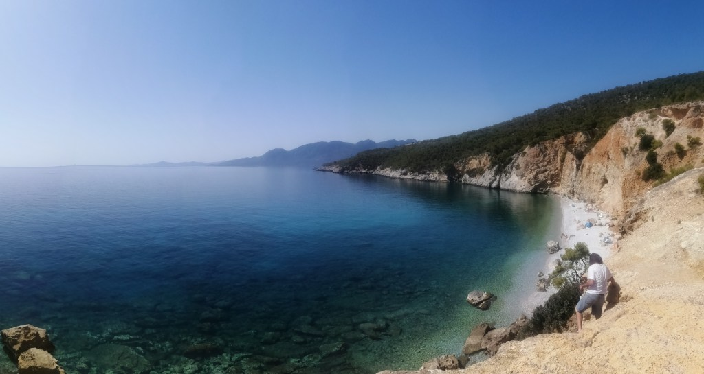 Agistri, Chalikiada, plage, falaises