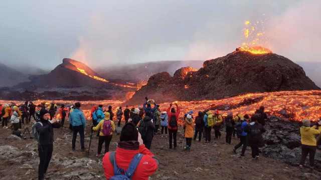島、旅行、火山噴火、ヘクラ、パノラマ旅行