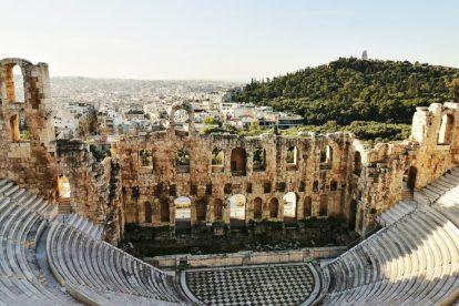 Atena, Grčka, Akropola, grčko kazalište, ruševine, planina, priroda, grad, putovanja