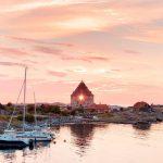 Gudhjem, zalazak sunca, putovanje, bornholm, odmor u Danskoj, putovanje autobusom, vitus putovanje, Danska