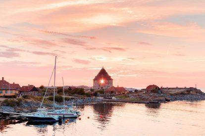 Gudhjem, tramonto, viaggio, Bornholm, vacanza in danimarca, viaggio in autobus, viaggio vitus, danimarca